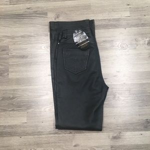 NEWPORT NEWS Easy Style Black Leather PANTS 10T